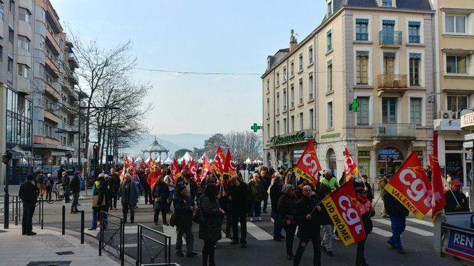 Début de la manifestation à Valence
