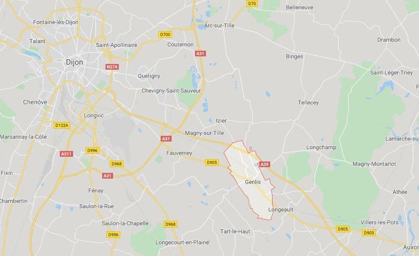 Genlis au Sud-Est de Dijon