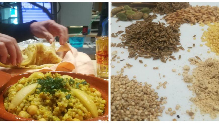 Cuisine marocaine végétale avec Mama du restaurant Chez Mama à Saint-Perdon