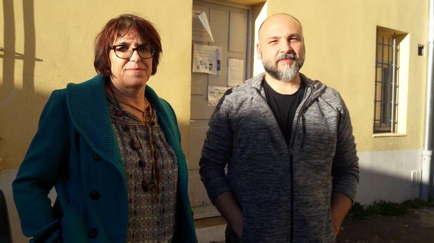 Catherine Philippe et Eric Maillol, chevilles ouvrières de la liste citoyenne de Bédarieux, présents à Béziers le 11 janvier