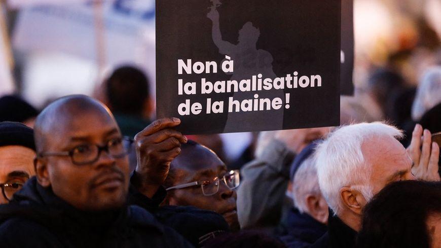 Lors d'une manifestation contre l'antisémitisme à Paris, en février 2019