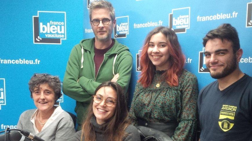 Nathalie Cabrera, Céline Delatte,  Olivier Barrère, Zoé Lanesse, Valentin Blanc.