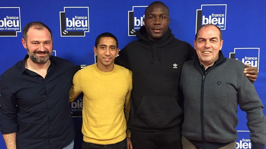 De g. à d. : Jean-Luc Guillet, Jonathan Iglesias, Judicaël Cancoriet et Jean-Pierre Morel.
