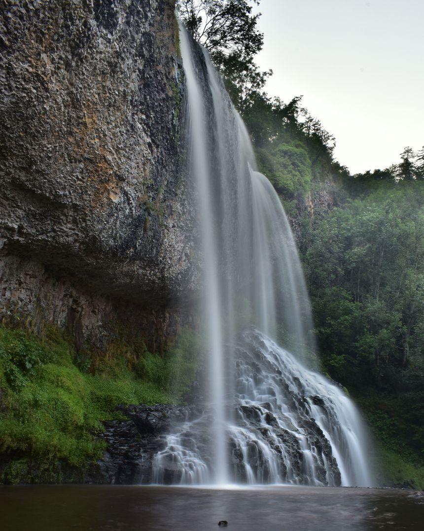 La cascade de la Beaume en Haute Loire