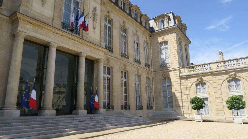 L'entrée du Palais de l'Élysée, à Paris.