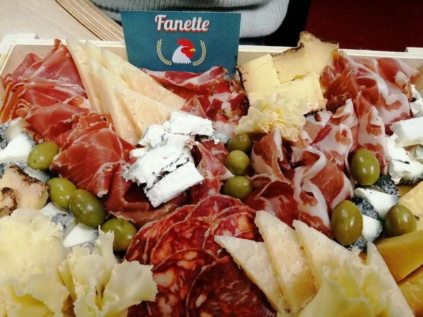 plateau charcuterie et fromage de Fanette