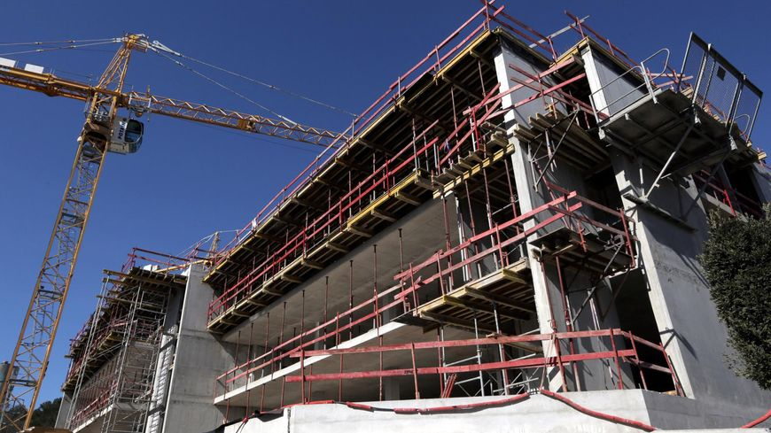 Construction de bâtiment à Nice (illustration)
