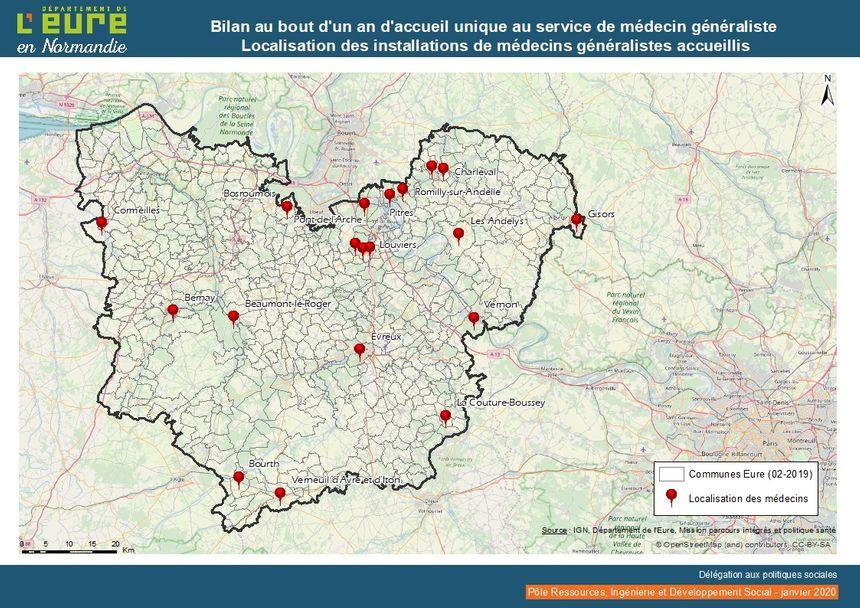 En 15 mois, 19 médecins généralistes ont bénéficié du service de l'accueil unique dans le département de l'Eure