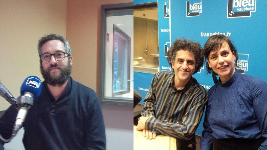 Goulwen Schiltz, Christophe Mangou, Géraldine Aliberti.