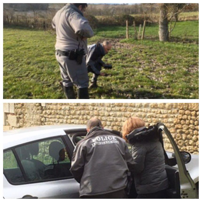 Marina François a guidé les techniciens de l'Office français de la biodiversité sur les lieux où elle a aperçu le loup