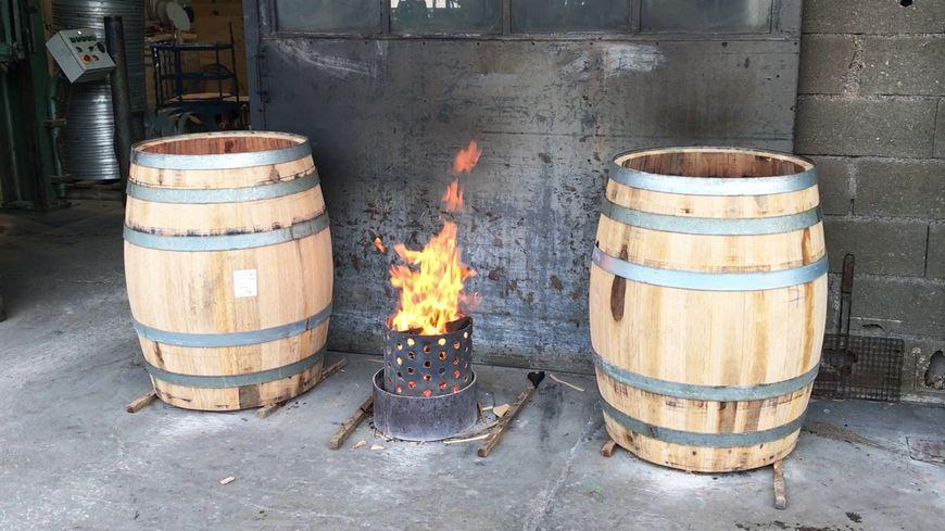 Du feu pour la cuisson des tonneaux