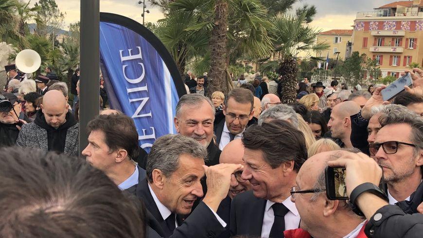 Nicolas Sarkozy est venu inaugurer le nouveau parc du Ray à Nice aux côtés de Christian Estrosi