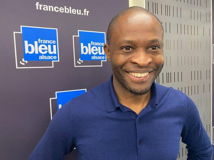 Issenheim, Dominique Abadoma, président des jeunes de Agiir Florival