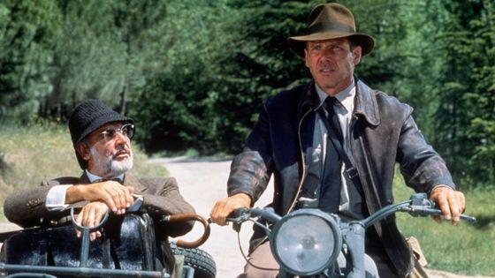 """Sean Connery et Harrison Ford - """"Indiana Jones et la dernière croisade"""" - 1989"""