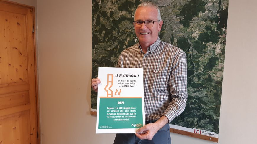 Pierre-Aimé Girardot, le maire de Longevelle, nous présente la campagne de collecte des mégots