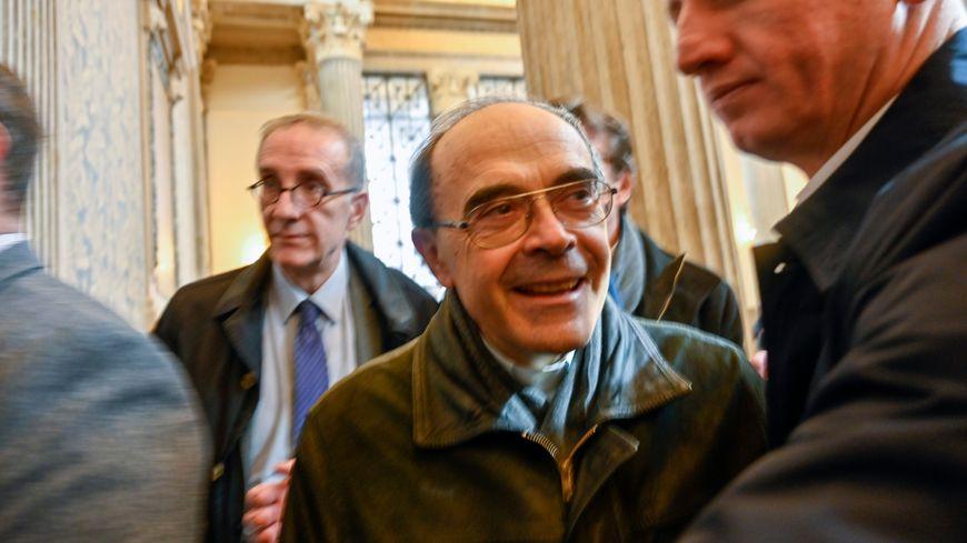 Le cardinal Barbarin, lors de son procès en appel, à Lyon, en novembre 2019
