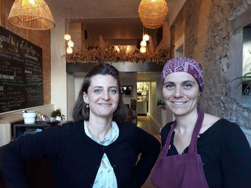 Elodie et Natacha le restaurant l'Aiguillage à Grenoble