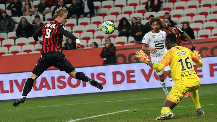 Kasper Dolberg a ouvert le score vendredi face à Rennes