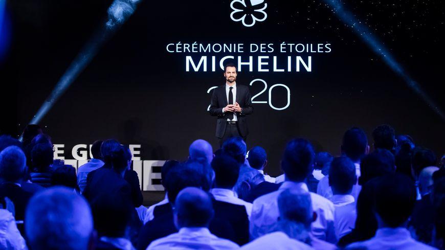 Gwendal Poullennec, le patron du Guide Michelin, à la cérémonie 2020