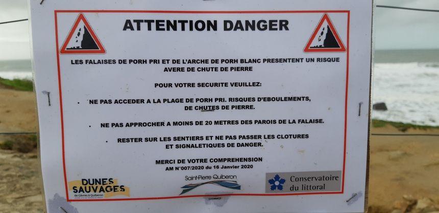 La mairie de Saint Pierre Quiberon a pris un arrêté le 16 janvier
