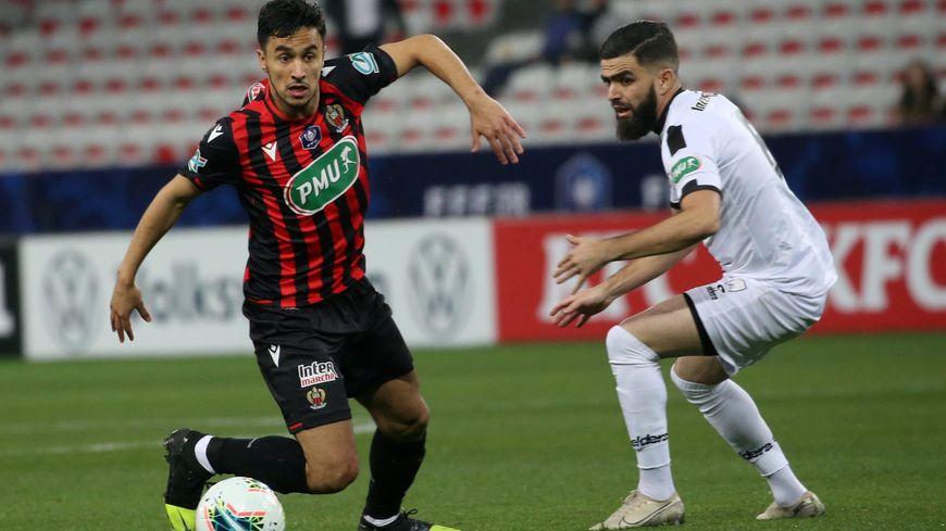 Adam Ounas avait marqué le deuxième but de l'OGC Nice début janvier face à Fréjus-Saint-Raphaël en 32e de finale de Coupe de France