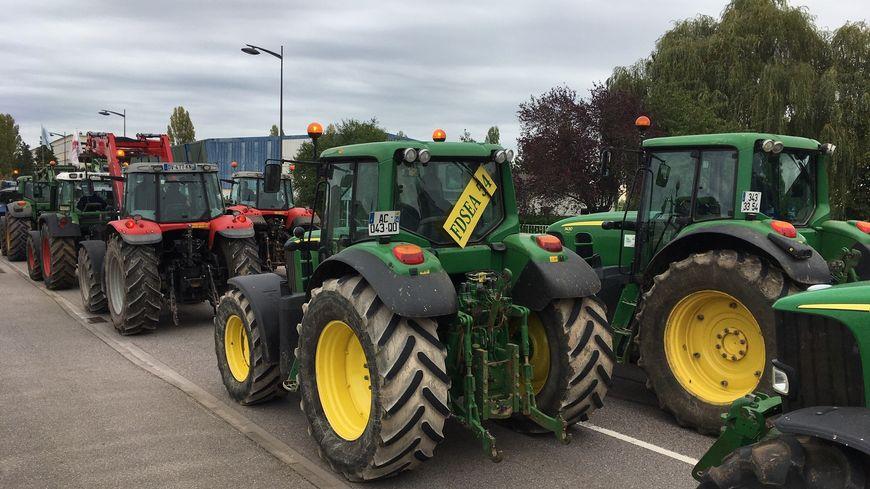 Des tracteurs pendant une manifestation des agriculteurs à Nancy, en octobre 2019.