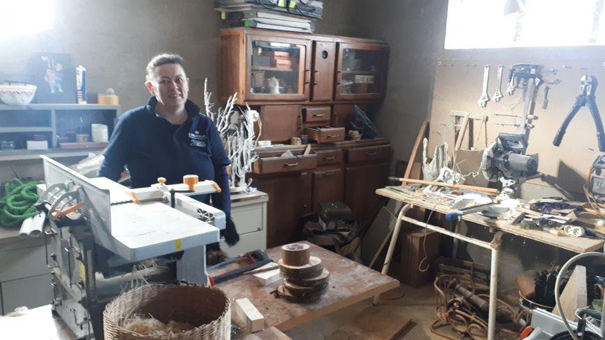 Stephanie PANNETIER dans son atelier -  Ma bois T'en verre- Gond Pontouvre - angoulème