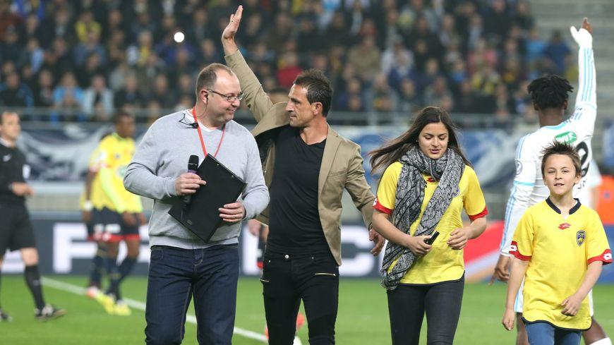 Teddy Richert (ici lors de la demi-finale de coupe de France FCSM-OM à Bonal en 2016) revient dans le nord Franche-Comté avec Montpellier pour défier l'ASM Belfort en 8ème de finale