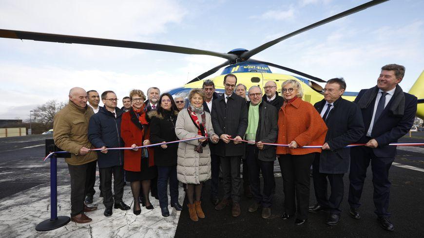 L'inauguration du nouvel hélicoptère