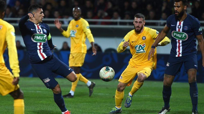 Le capitaine du PSG Parades a ouvert le score au bout de 25 minutes de jeu.