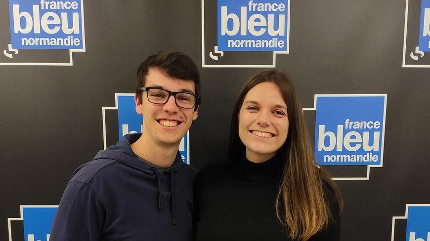 Charles & Ava dans les locaux de France Bleu Normandie à Caen