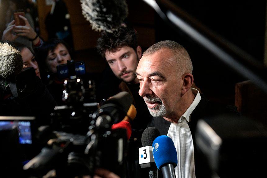 Me Frédéric Doyez, avocat de Bernard Preynat, au second jour du procès de l'affaire Bernard Preynat au tribunal correctionnel de Lyon.
