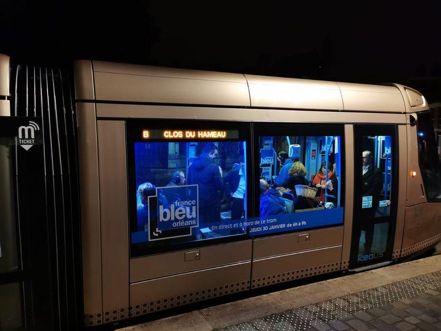 Le tramway France Bleu Orléans, ce jeudi 30 janvier