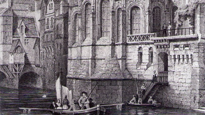 Barque au chevet de l'église St-Pierre