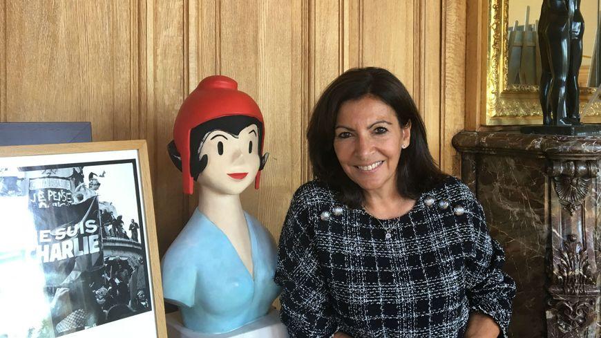 Anne Hidalgo, maire de Paris, dans son bureau de l'Hôtel de Ville, le 25 septembre 2018.