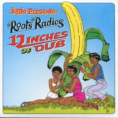 """Pochette de l'album """"Junjo presents : Roots Radics : """"""""12 Inches of Pleasure"""""""" / General Echo : """"""""12 Inches of dub """""""""""" par The Roots Radics"""