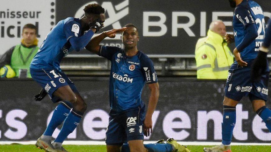 Dereck Kutesa a inscrit son premier but en championnat avec le Stade de Reims.