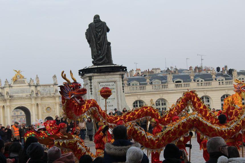 Des danses du dragon se sont déroulées place Stanislas