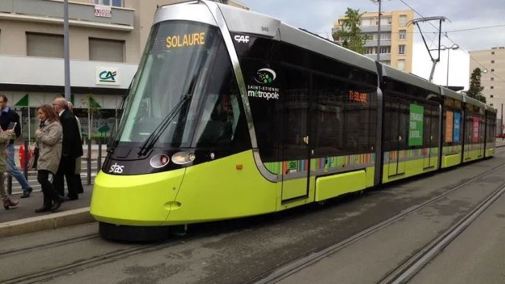 Un tramway à Saint-Étienne (illustration)