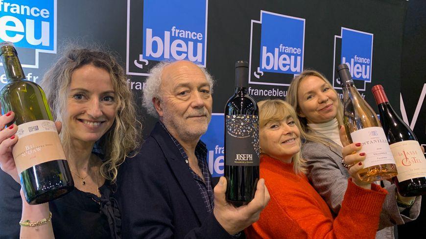 Audrey Martinez, Gilles Rochard, Sylvie Tonnaire et Patricia Huczek à Millésime Bio