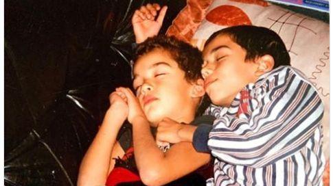 La photo postée par Oli avec son frère Bigflo sur les réseaux sociaux (capture d'écran)