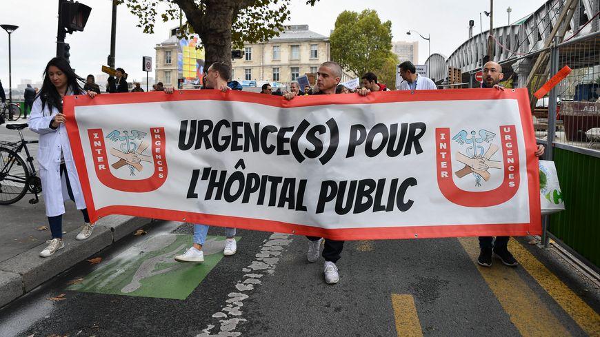 Manifestation du personnel hospitalier en octobre 2019