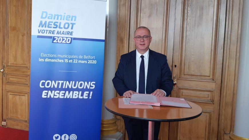 Damien Meslot candidat à sa succession à la mairie de Belfort
