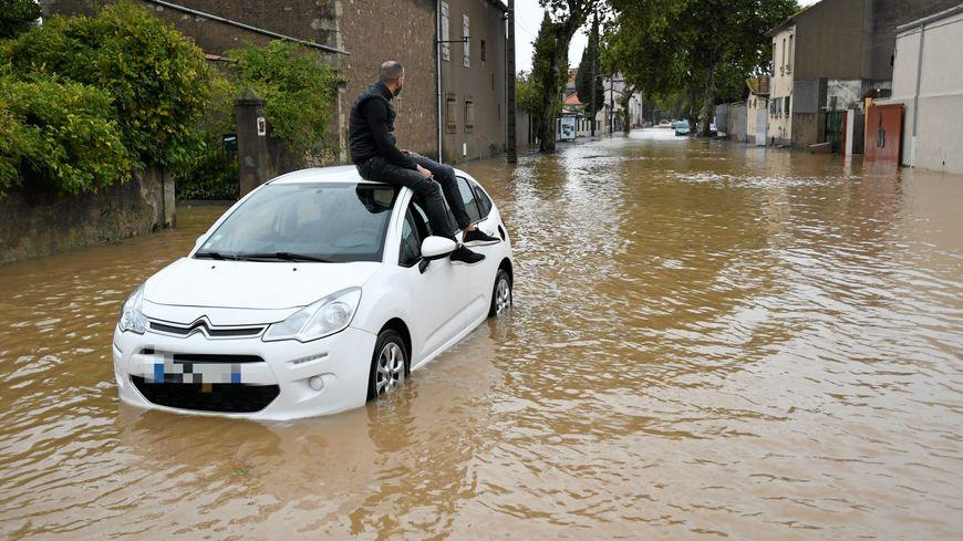 """La reconnaissance de l'état de catastrophe naturelle concerne les inondations d'octobre 2019 et d""""'octobre 2018 (ici dans le Biterrois)"""