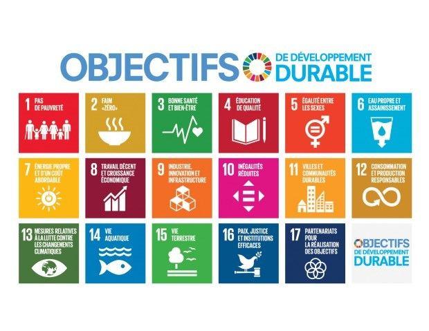 Les 17 objectifs pour le développement durable fixés par l'ONU en 2015.