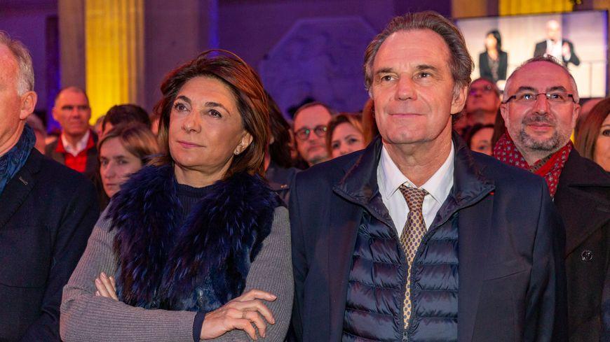 Martine Vassal et Renaud Muselier à la cérémonie des vœux au monde économique à Marseille le 20 janvier 2019.