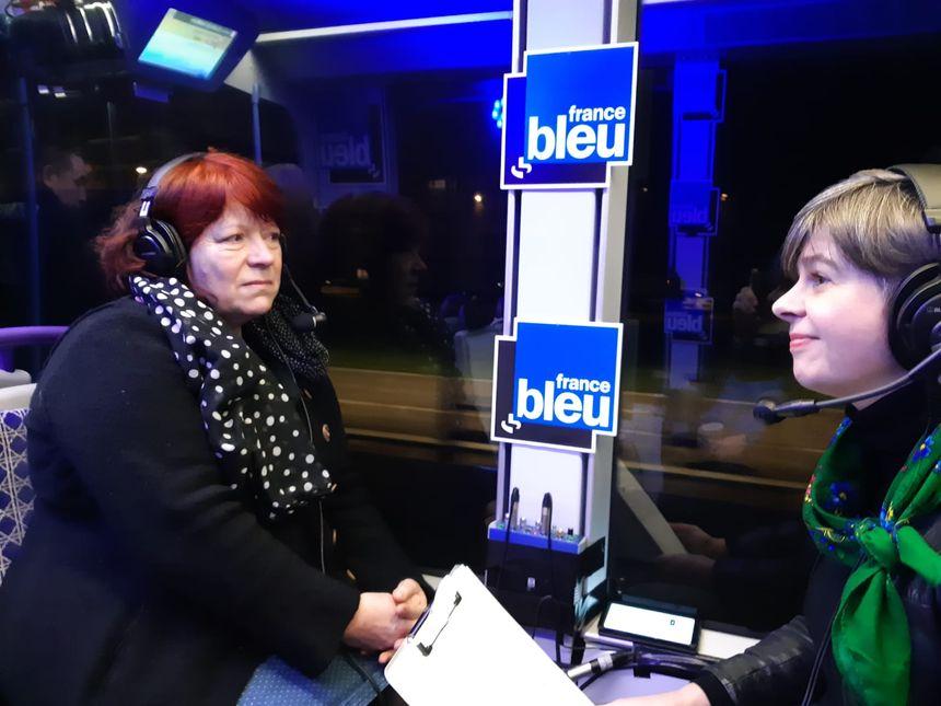 Dominique Tripet, interrogée par Anne Oger, dans le tramway, le 30 janvier 2020
