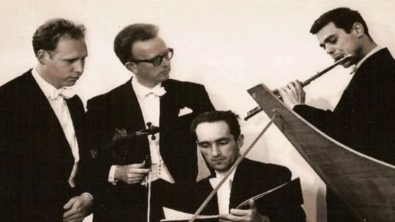 Les musiciens du Quadro Amsterdam (Anner Bylsma - Jaap Schröder - Gustav Leonhardt - Frans Brüggen)