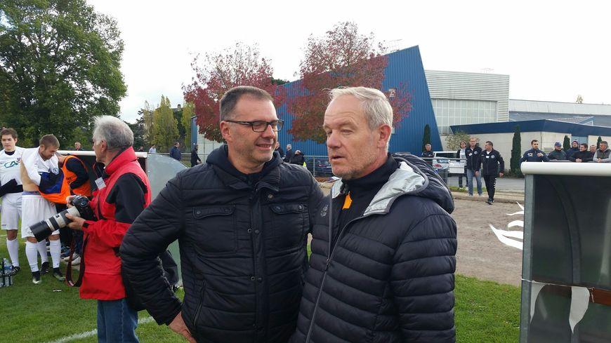 Eric Stéfanini et son ancien coéquipier de l'époque, Stéphane Osmond