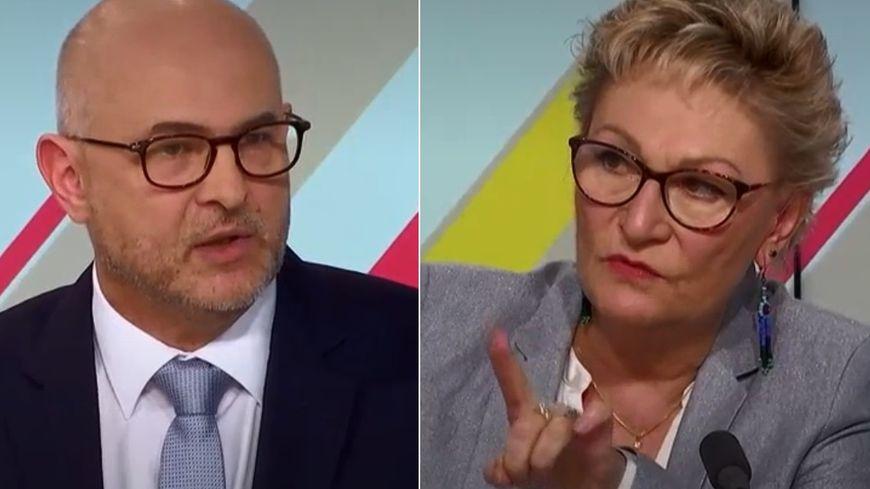 Capture écran de l'émission Dimanche en politique de France 3.